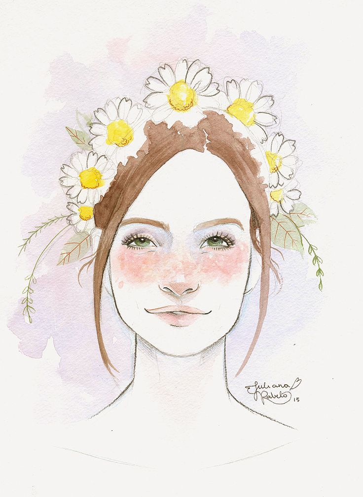 Quick portrait I made for the cute and amazingLu Cafaggi. Espero que tenha gostado♥ Watercolours on Hahnemühle paper.  Juliana Rabelo © 2015. All rights reserved.