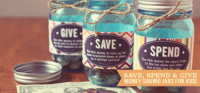 Save Spend and Give Jars by Three Little Monkeys Studio