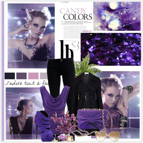 """Untitled #23"" by anett-keberlova on Polyvore #polyvore #outfit #violet #black #farfetch #boticca #gucci"