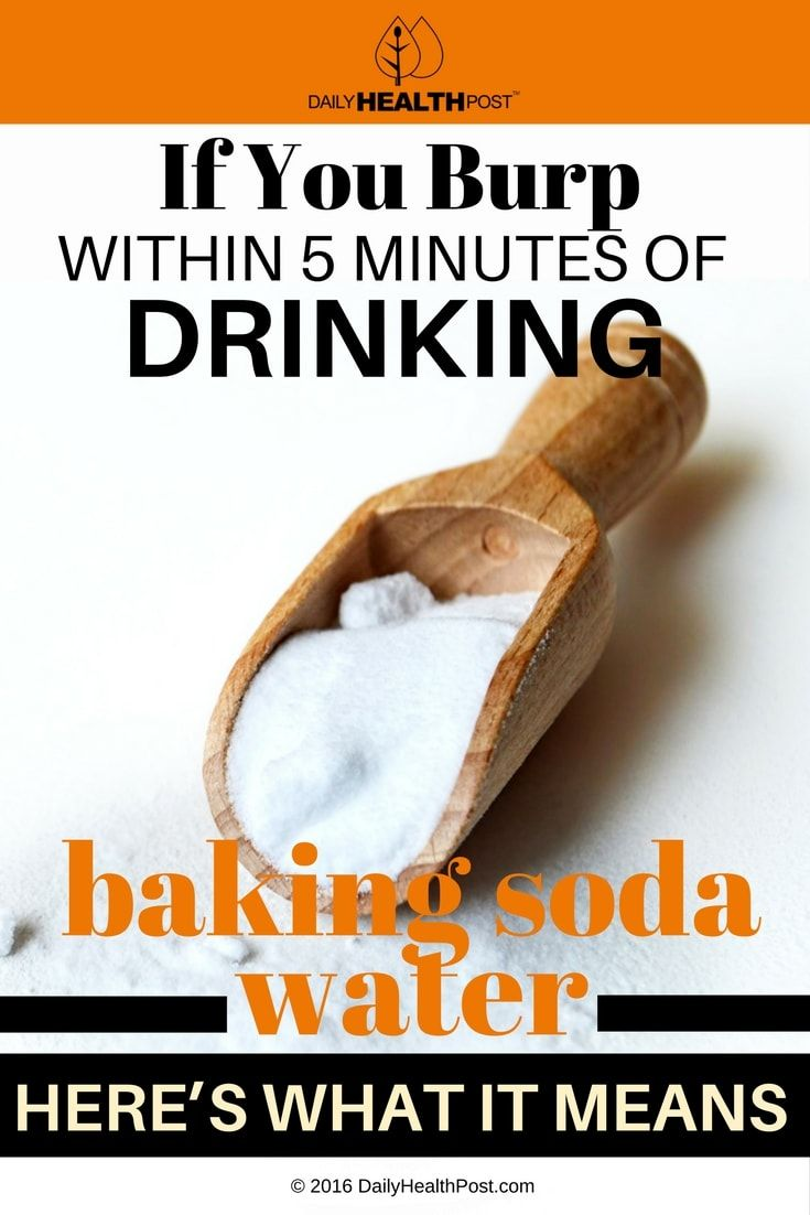 If You Burp After Drinking Baking Soda