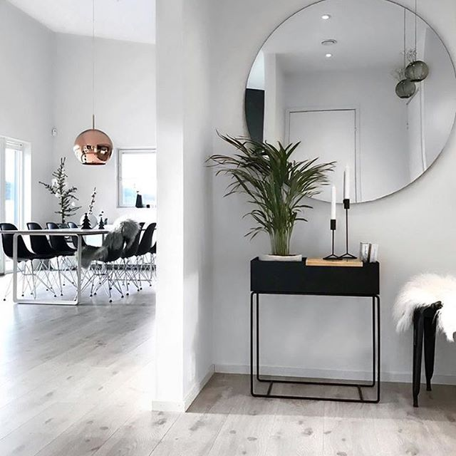 Love the beautiful home of @stine.moi Ferm Living Plant Box in black is now back in stock . #hallway #interiorstyling #nordichome #nordicinspiration