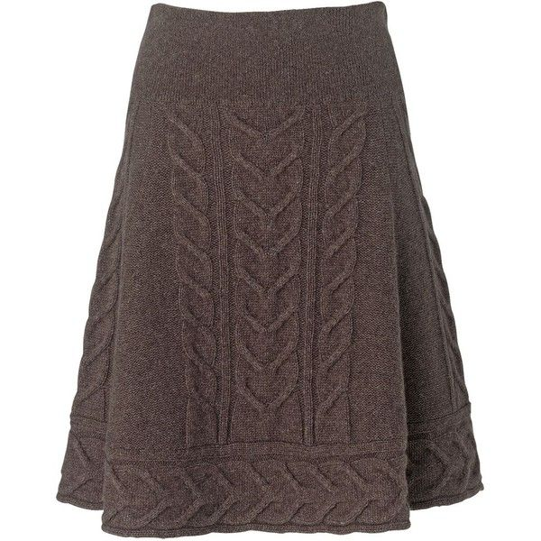 Phase Eight Heavy Cable Skirt ($34) ❤ liked on Polyvore featuring skirts, bottoms, saias, the hobbit, women, brown skirt, mid thigh skirt, wool skirt, a line skirt y cable knit skirt