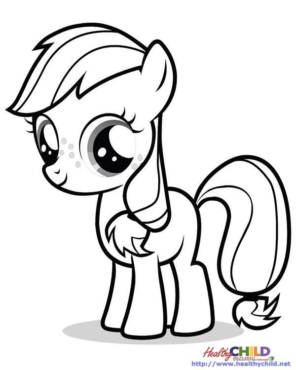 Applejack My Little Pony Coloring Pages My Little Pony