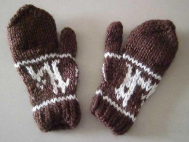 Kinder 1-4 Jahre #Fäustlinge, #Handschuhe aus naturbelassener #Alpakawolle, Dunkelbraun
