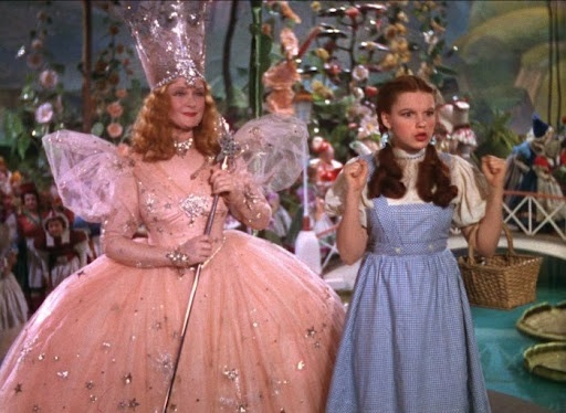 Dorothy & Glinda, the good witch