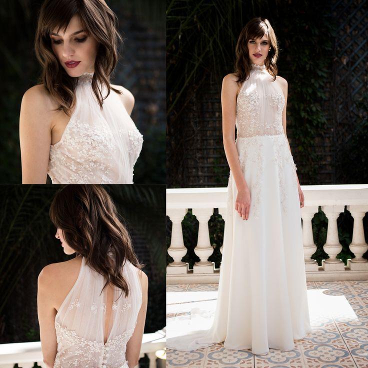 Vestido de novia cuello halter · Halter wedding dress