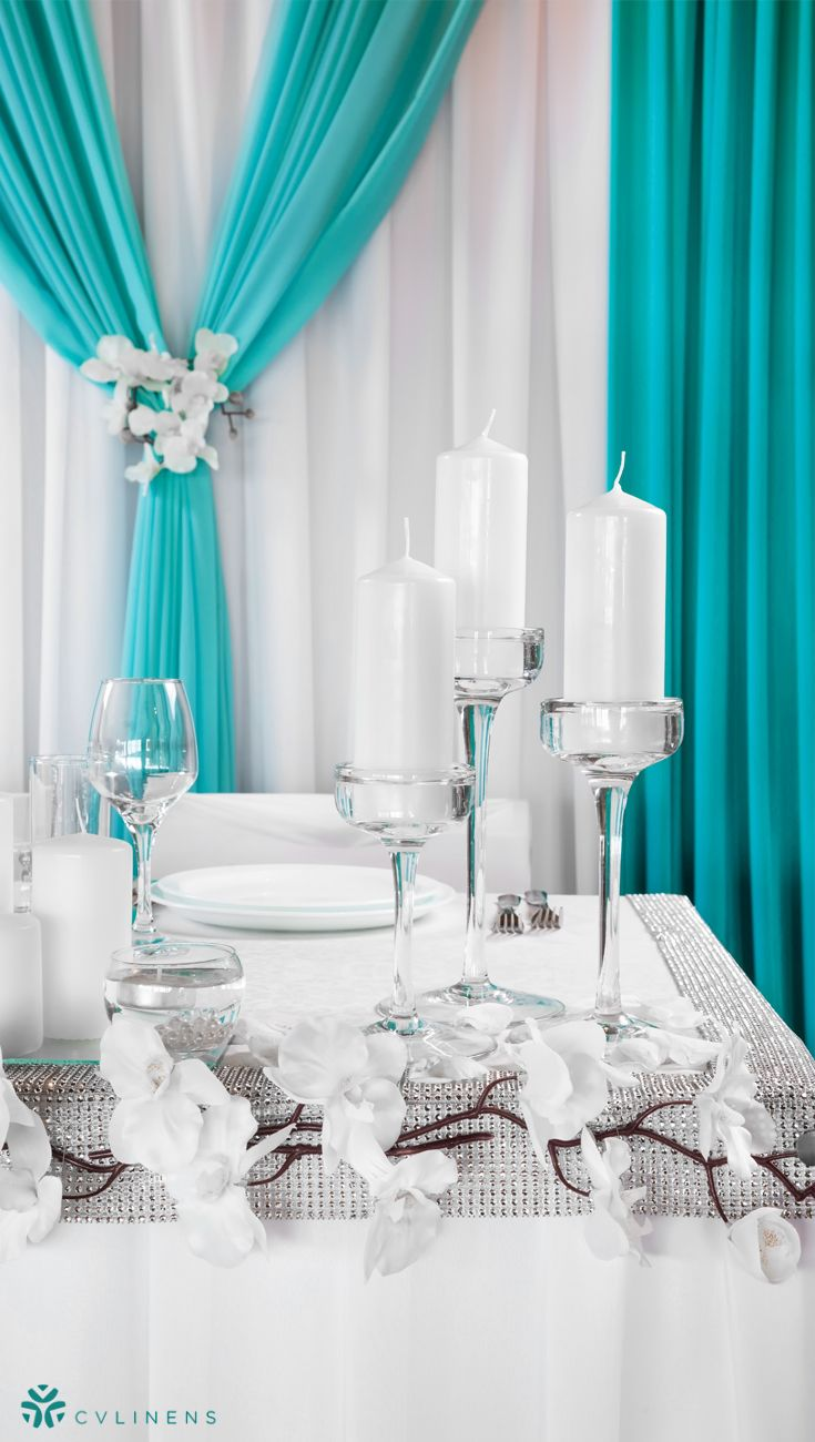 Sheer Voile 14ft H X 118 W Drape Backdrop Turquoise Wedding Decorations On A Budget Wedding Reception Decorations On A Budget Turquoise Wedding Decorations
