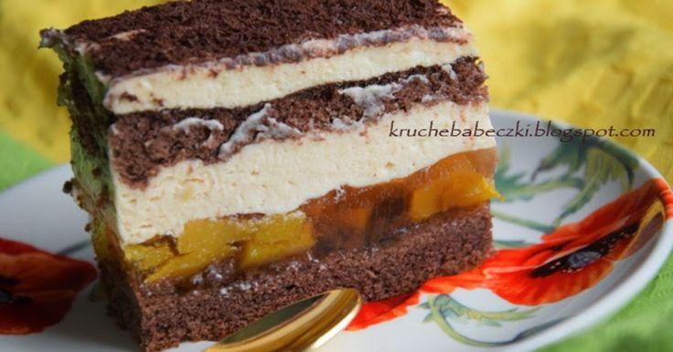 Ciasta - Chałwowiec z brzoskwiniami