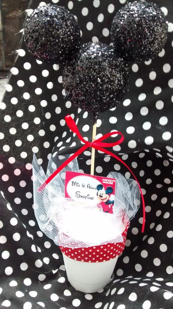 Centros De Mesa Souvenirs Topiarios Mickey Minnie Mouse - $ 24,00 en MercadoLibre
