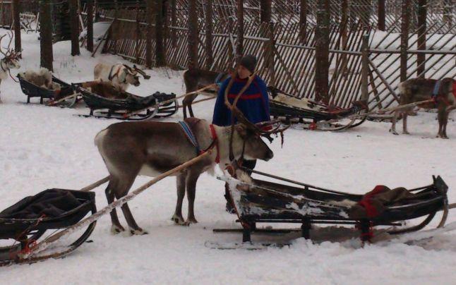 Laponia, Finlanda,  Casa lui Mos Craciun