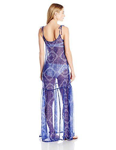 Guess Women's Bandana Blue Cover up Dress