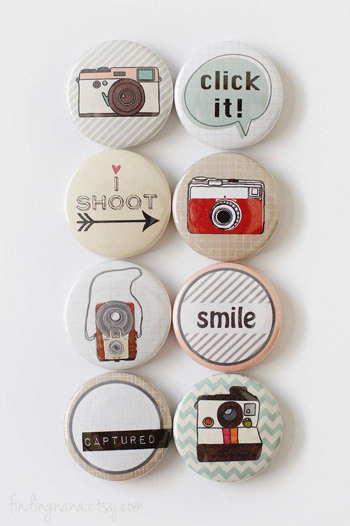 Camera Flair Button | photography gift idea to accessories your Lei Momi Camera Bag http://leimomi.com.au/