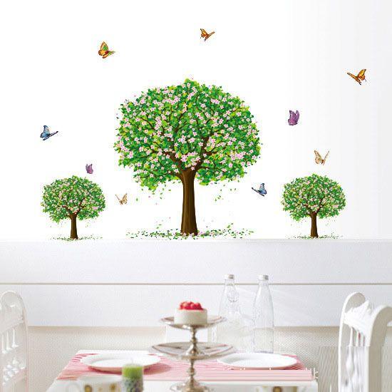 Дерево стикера стены большой наклейка украшение для гостиной Офис фоне стены наклейки, номер фото дерево стикер стены