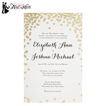 Gold Dot Wedding Invitations | Hobby Lobby
