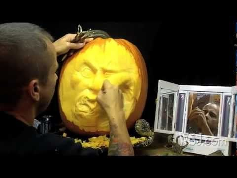 Ray Villafane: 'Extreme' Pumpkin Carver - YouTube- or how to make pumpkin carving into art