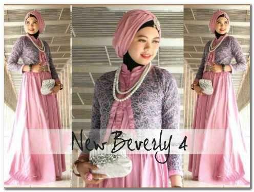 Busana muslim New Beverly 4 (Dusty Pink) 4 in 1  Bahan: Matt,Maxi+pashmina JERSEY+blzer brukat Grey+bros  Size: Fit XL Pjg 140