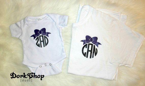 Vêtements pour bébé: adorable, maman et moi assortis des chemises monogrammées / Onesie   – Mommy & me