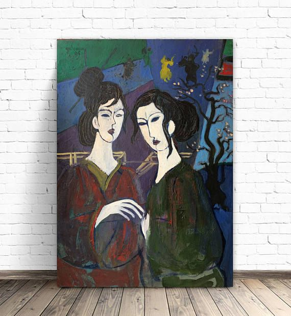 Printable Artwork Modern Oil Paintings On Canvas Colorful