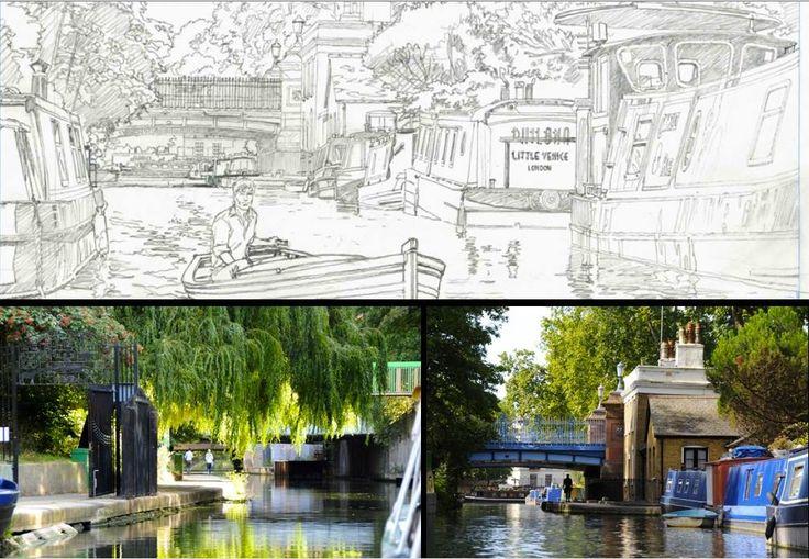 Repérages de Philippe Francq pour le tome 19 de Largo Winch - Little Venice