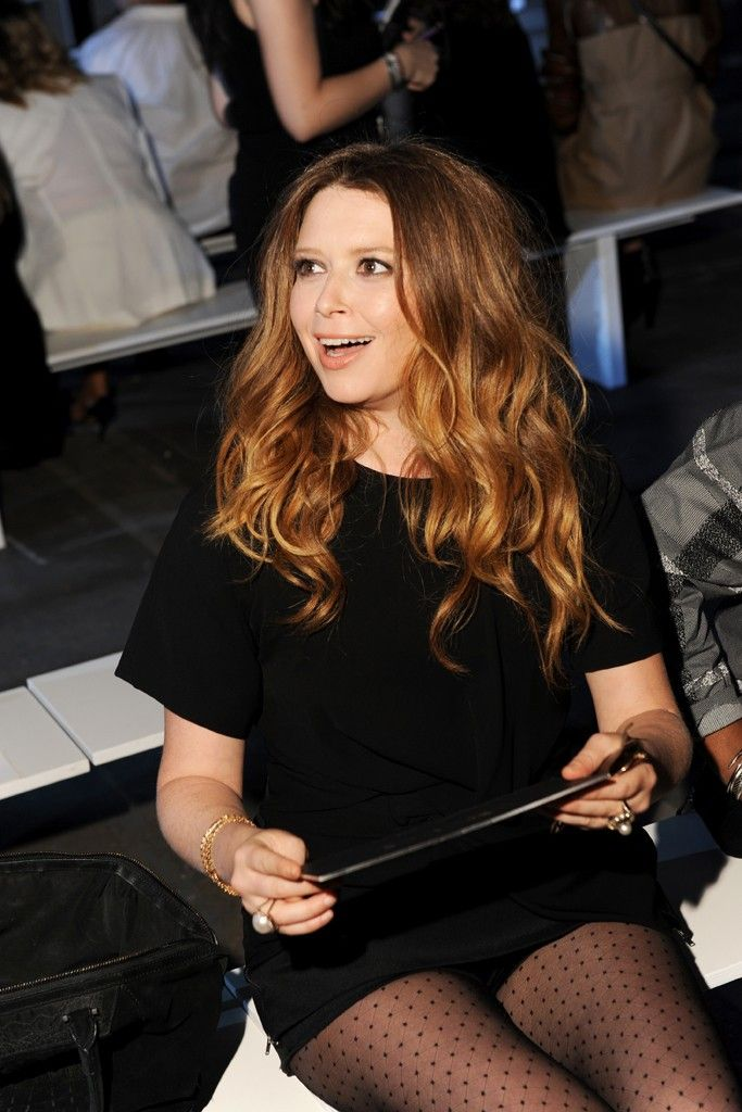 Natasha Lyonne Front Row at Alexander Wang  [Photo by Steve Eichner]
