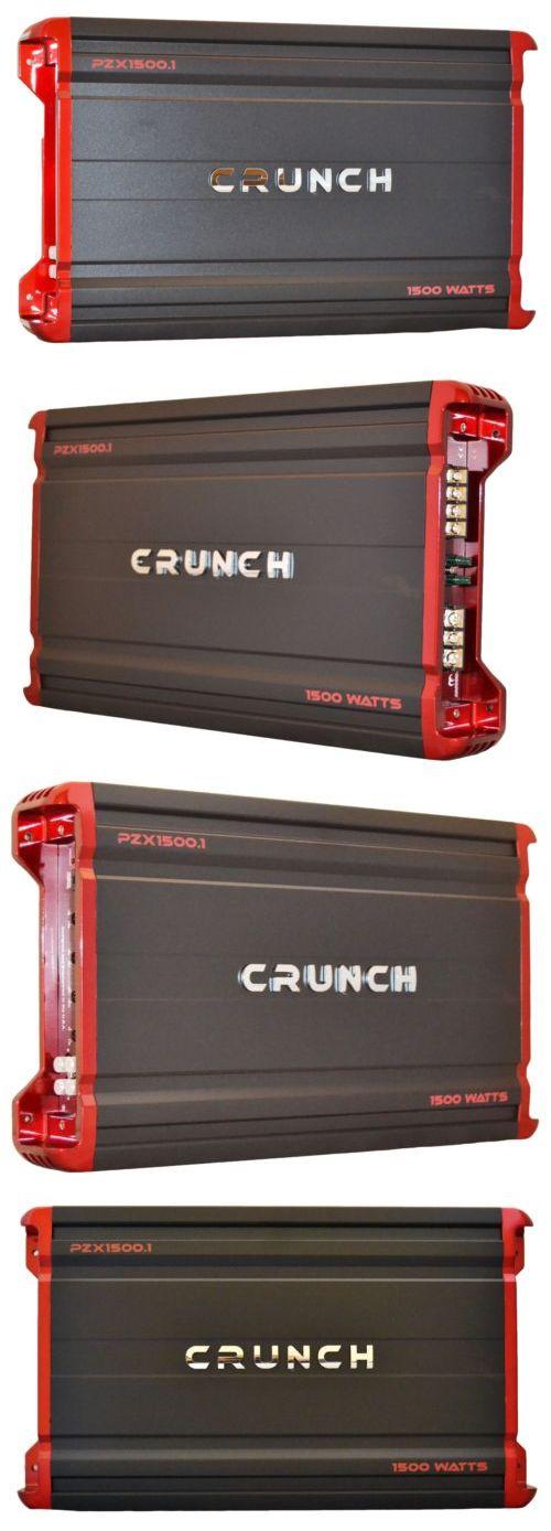Car Amplifiers: Crunch Pzx Series Monoblock Car Amplifier 1500W Peak Power Amp Pzx1500.1 -> BUY IT NOW ONLY: $81.95 on eBay!