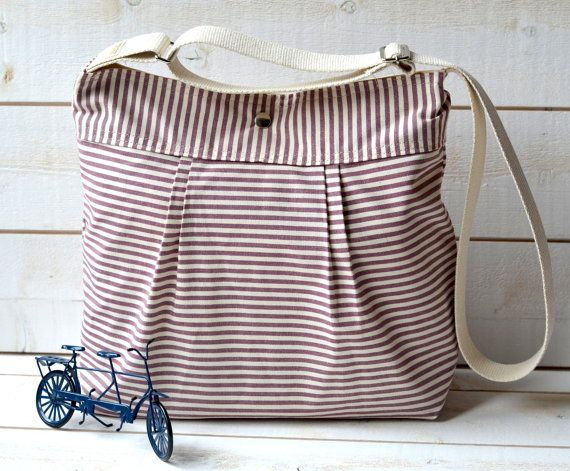new color: French Messenger, Stripes Pleated, Stockholm Grape, Diapers Bags, Messenger Bags, Tick Stripes, Ecru Tick, Pleated French, Bags Stockholm