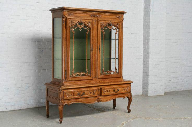 старинная мебель - витрина людовик 15 из дуба, 20 век