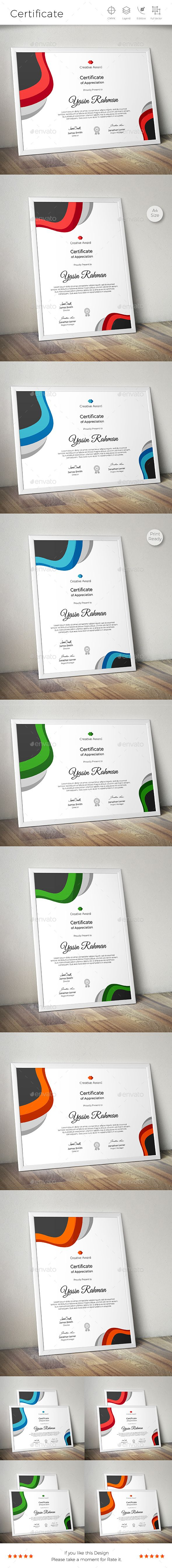 23 best certificate template design images on pinterest certificate design vector ai eps files download now httpsgraphicriver yadclub Gallery