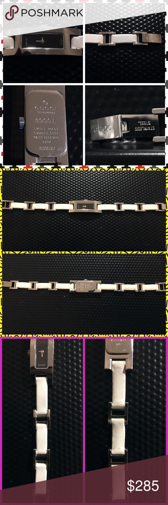 Vintage Gucci 3900L mostrador preto e relógio de couro Authentic Gucci 3900L / 3900 L …   – My Posh Picks