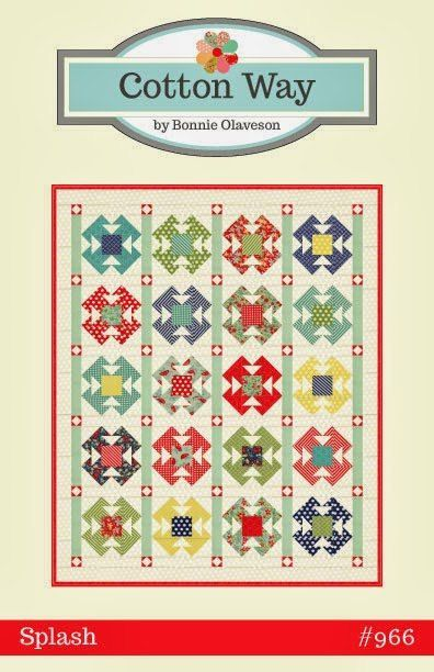 Splash Quilt Pattern CW 966 by Cotton Way