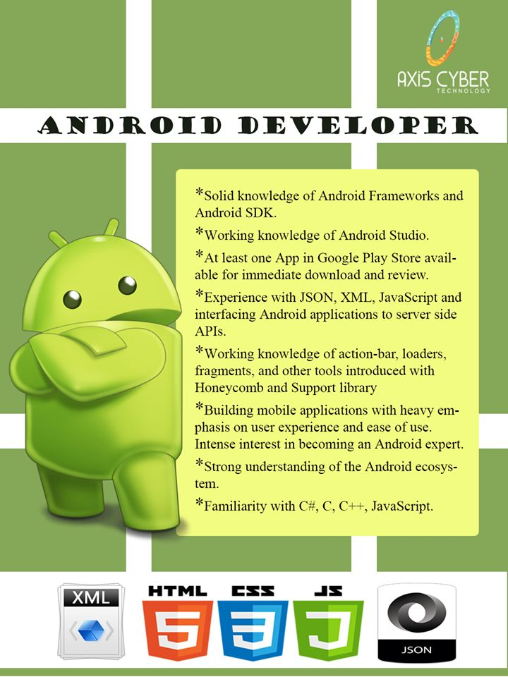 """We are hiring """"Android Developer."""" Send your resume at"""