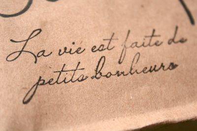 Life is full of little treasures • French quote Tattoo idea