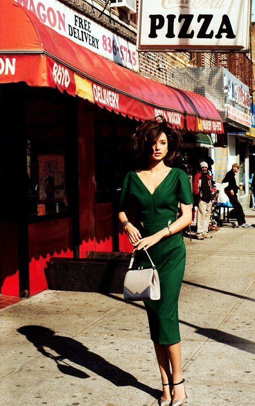 Miranda Kerr for Harpers Bazaar. LOVE that dress.