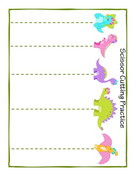 dinosaur theme cutting pages 2 funnycrafts preschool alphabet cutting practice scissor. Black Bedroom Furniture Sets. Home Design Ideas