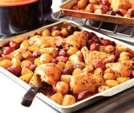 This is an amazing recipe for chicken.  Love this rfast recipe.Amazing Recipe, Sausage Recipe, Spanish Chicken, Nigella Lawson, Chicken Recipe, Chicken Thighs, Baking Chicken, Food Recipe, Dinner Recipe