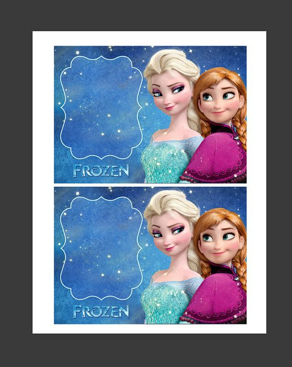 INSTANT DOWNLOAD - Disney Frozen Blank Invitations Anna  Elsa -  Make Your Own Invites, Signs, Party Supplies and Decorations on Etsy, $2.99