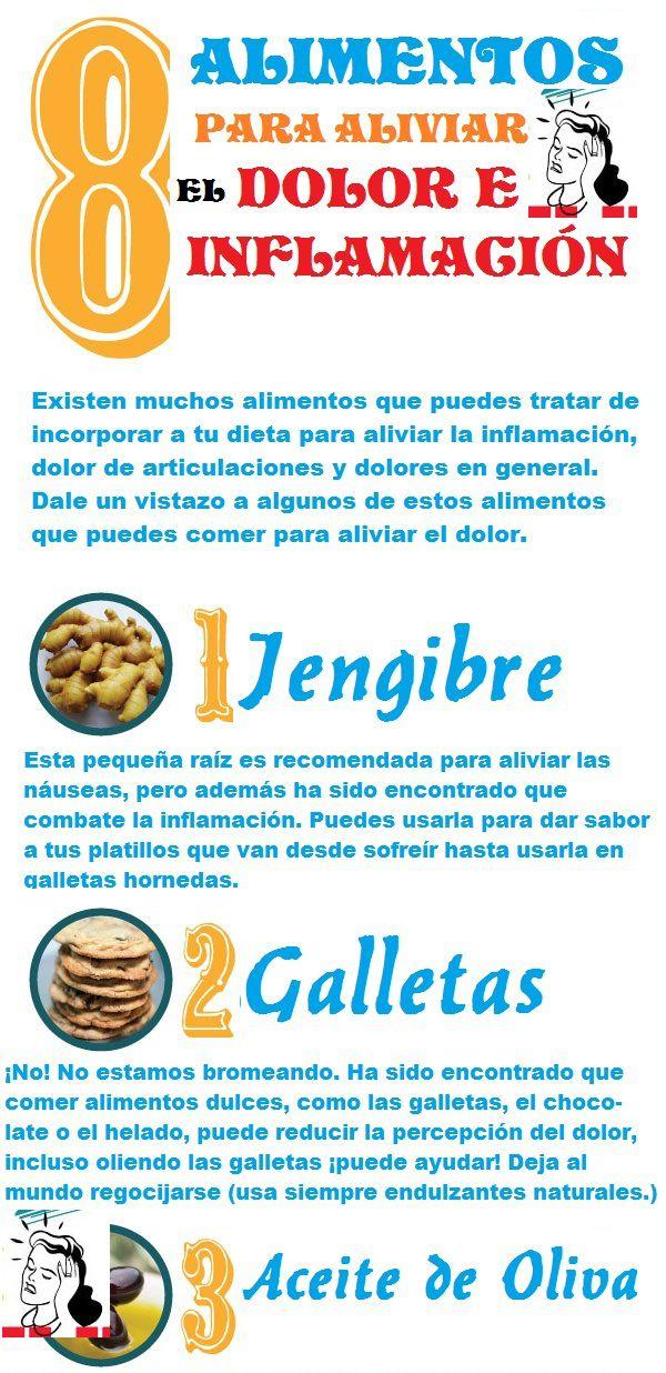 8 Alimentos para ayudar el dolor e inflamación.