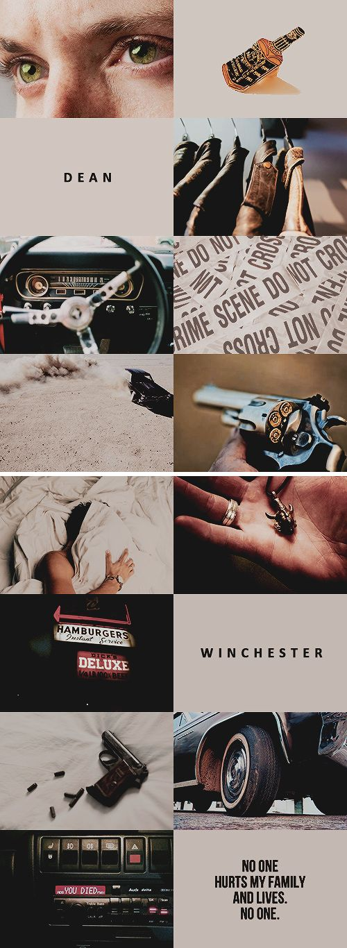 character aesthetic // dean winchester from supernatural #spn
