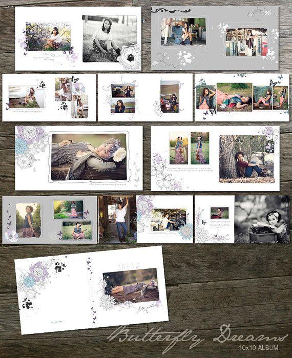 10x10 Album Template - Butterfly Dreams