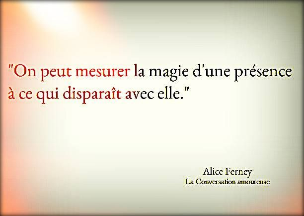 Se puede medir la magia de una presencia con lo que se desaparece con ella.