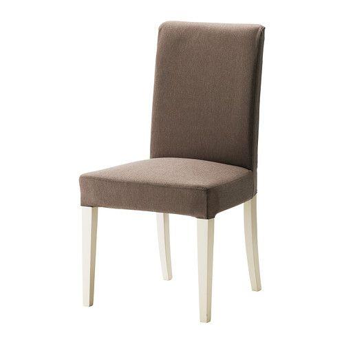 HENRIKSDAL Krzesło - Dansbo średniobrązowy, biały - IKEA
