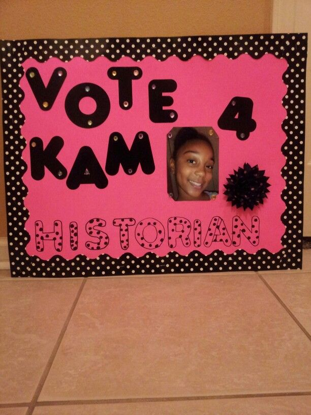 Poster for Student Council campaigning!!!