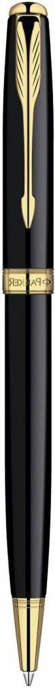 Шариковая ручка поворотная Parker Sonnet k530 Laque Black Gt черный s0808730