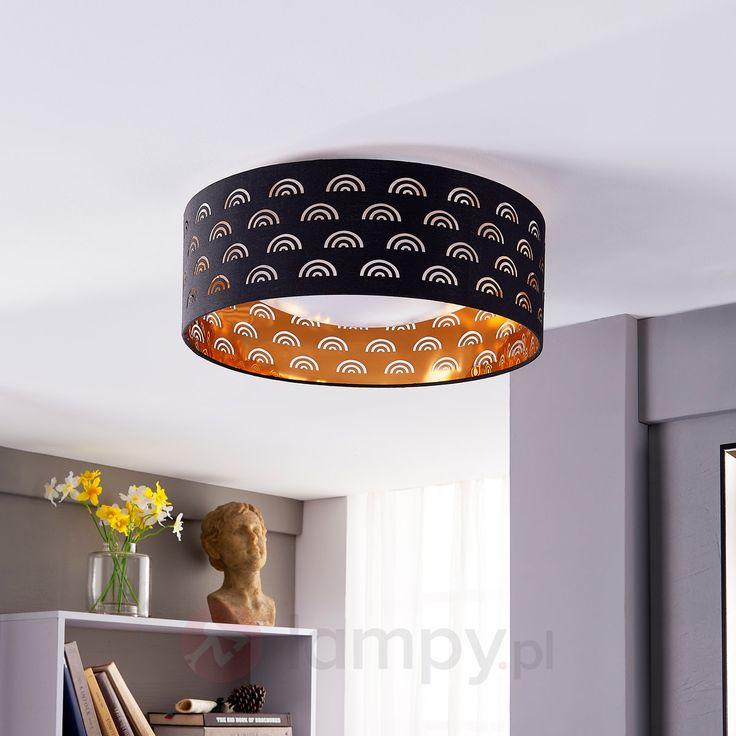 Jorunn – czarno-złota lampa sufitowa LED 9620942