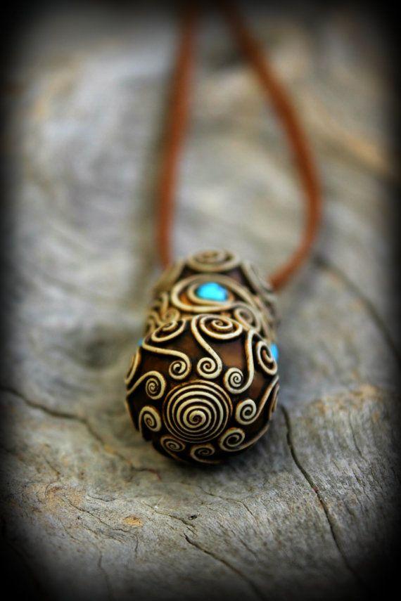 Bohemian spirit Prayer box necklace jewelry ethnic tribal