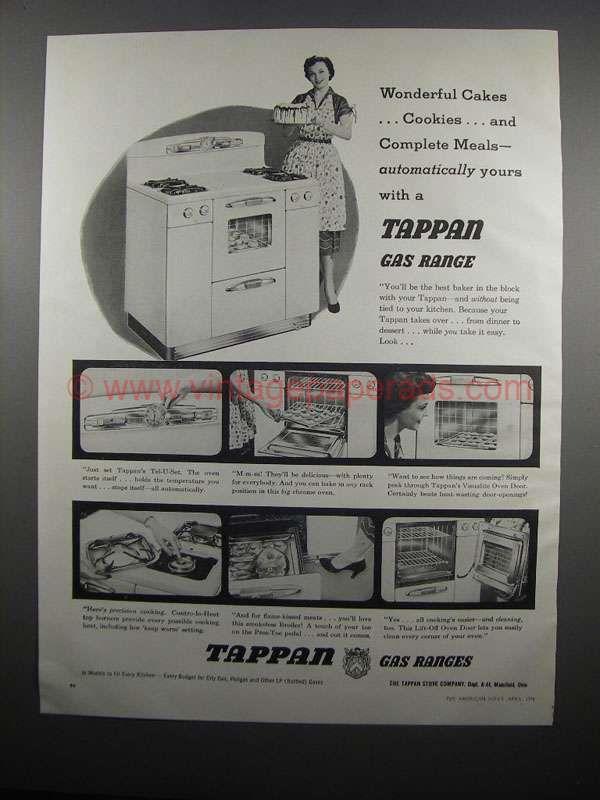Bighh0132 1954 Tappan Gas Range Ad Wonderful Cakes Gas Range Tappan Gas