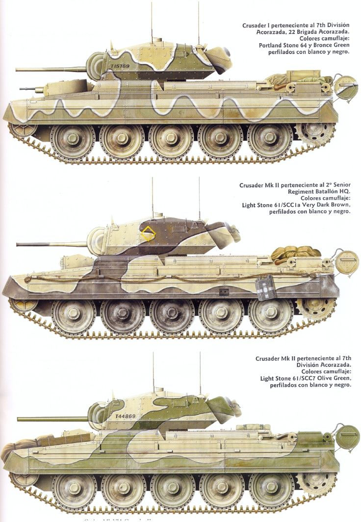 different versions of the crusader tank