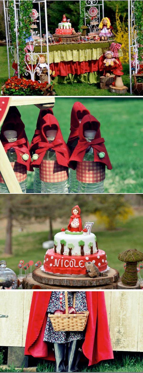 Little Red Riding Hood themed birthday party via Karas Party Ideas KarasPartyIdeas.com #little #red #riding #hood #birthday #party #ideas #favors #supplies