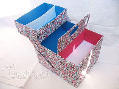 Творческая мастерская: ящик для инструментов. картонаж.