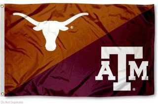 House Divided Flag - Aggies vs. UT Longhorns